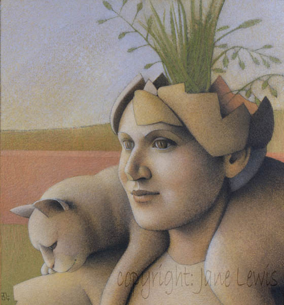 Jane Lewis, La Scultura, cats and women, cats in art