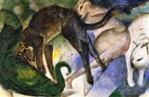 Franz Marc Playing Cats 1913 Staatsgalerie Stuttgart, Germany