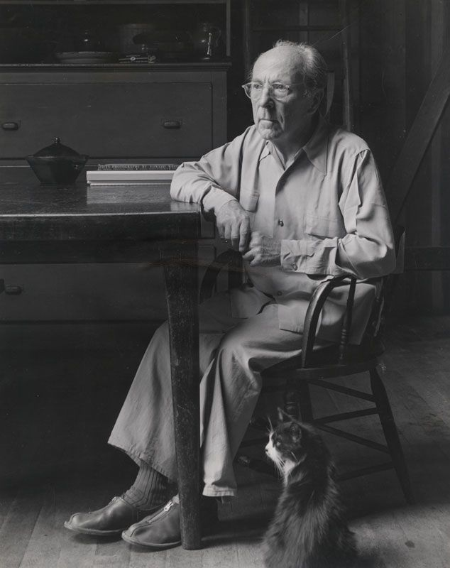 Edward Weston with One of his Cats