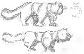 Botero - cat sketch