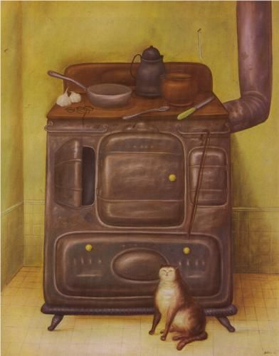 Fernando Botero (Colombian, b.1932). The Cuisine. 1970.