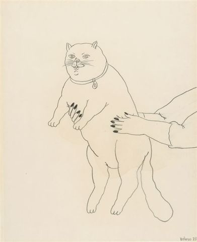 F. Botero a fat cat 1979
