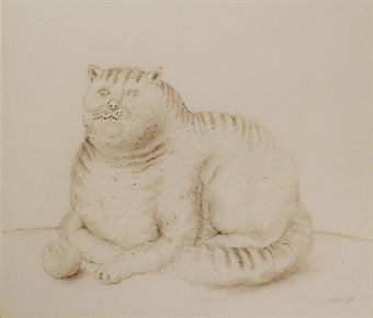 f. Botero cat with ball