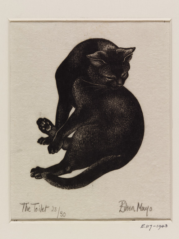 Eileen Mayo, The Cat's Toilet, 1943
