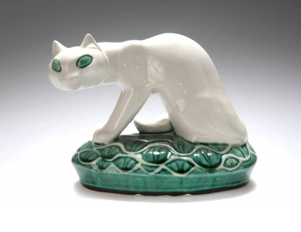 G Marcks, ceramic cat, cats in sculpture