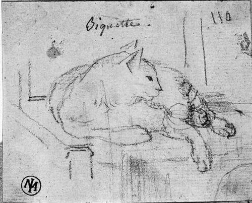 Biquette 1820 cat art