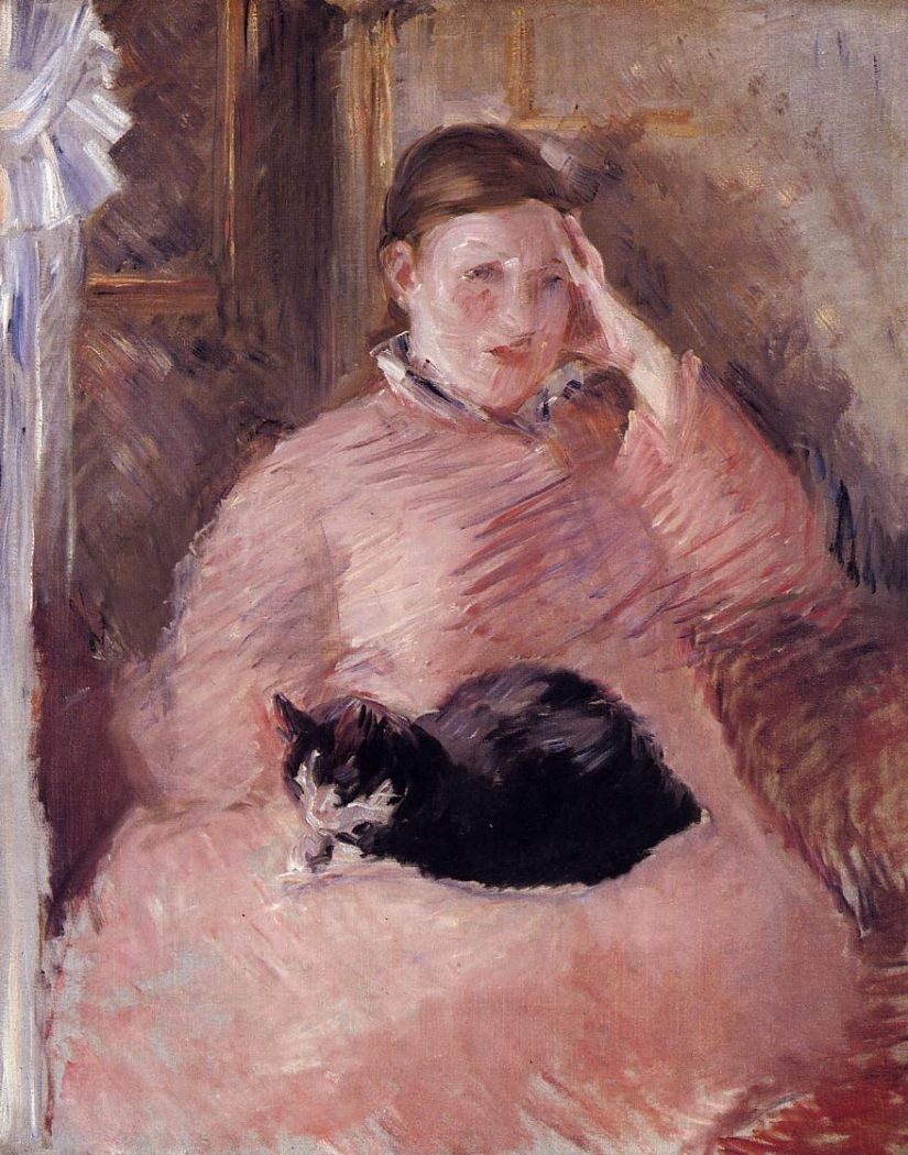 Edouard Manet, Woman with a Cat 1880