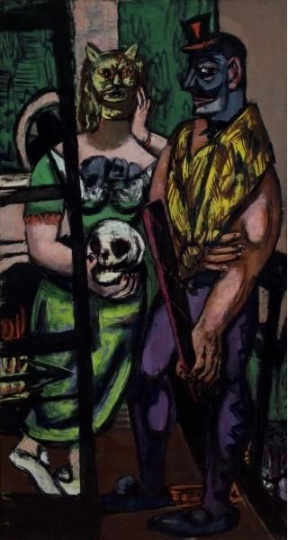 Masquerade by Max Beckmann (1884-1950, Germany)