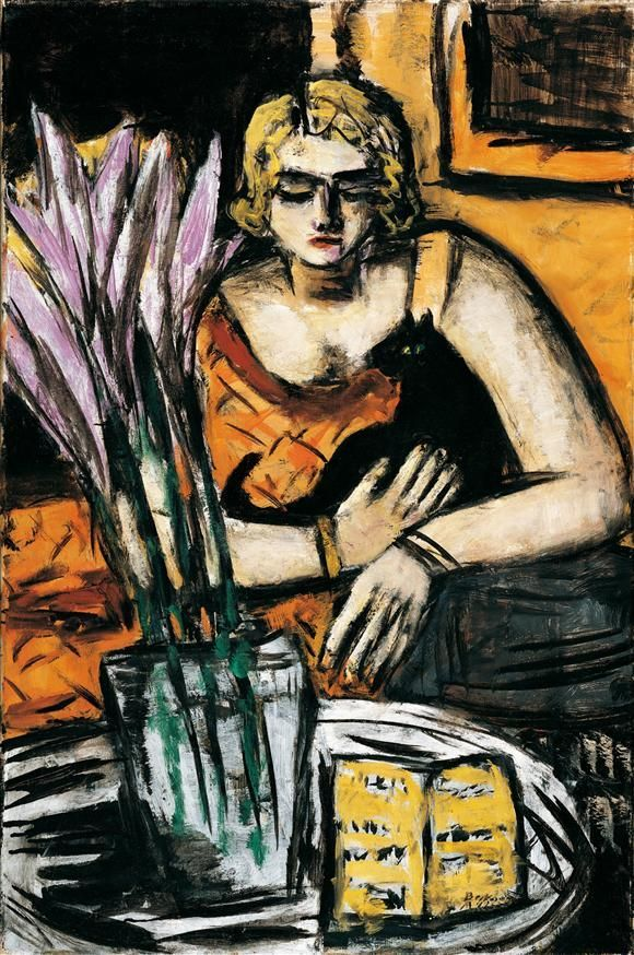 M. Beckmann (1884-1950), Woman with Cat 1942