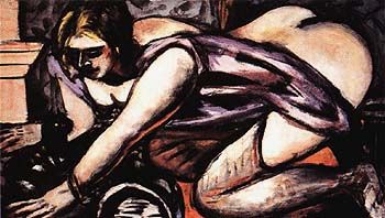 Beckmann, Semi Nude with Cat