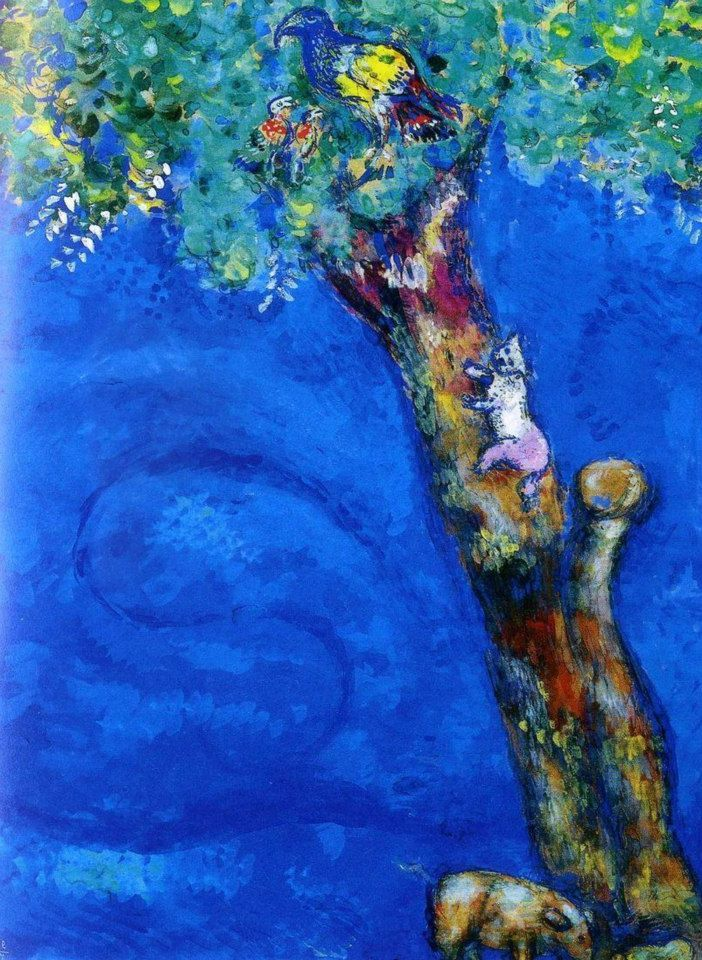 Marc Chagall Illustration from Jean de La Fontaine's Fables