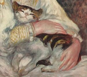 Pierre-Auguste Renoir - Julie Manet (aka L'enfant au chat) - Detail