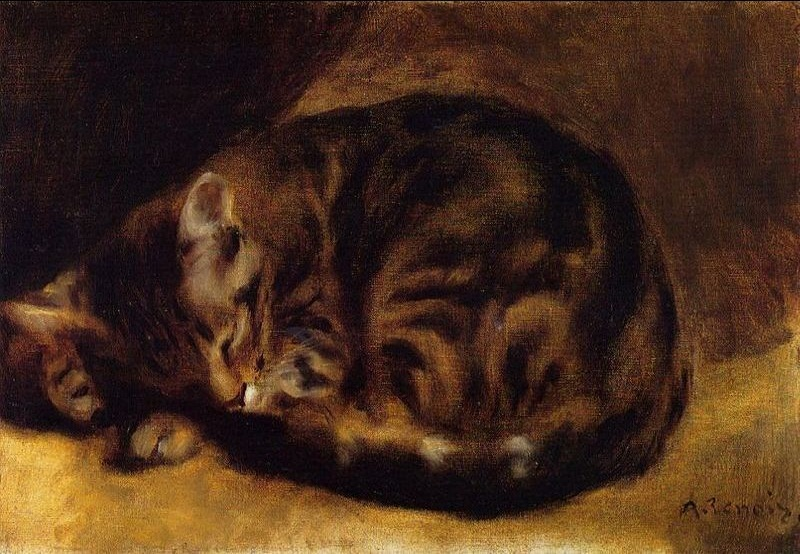 Pierre-Auguste Renoir Sleeping Cat