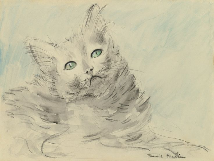 F Picabia Cat with Green Eyes 1923-1926