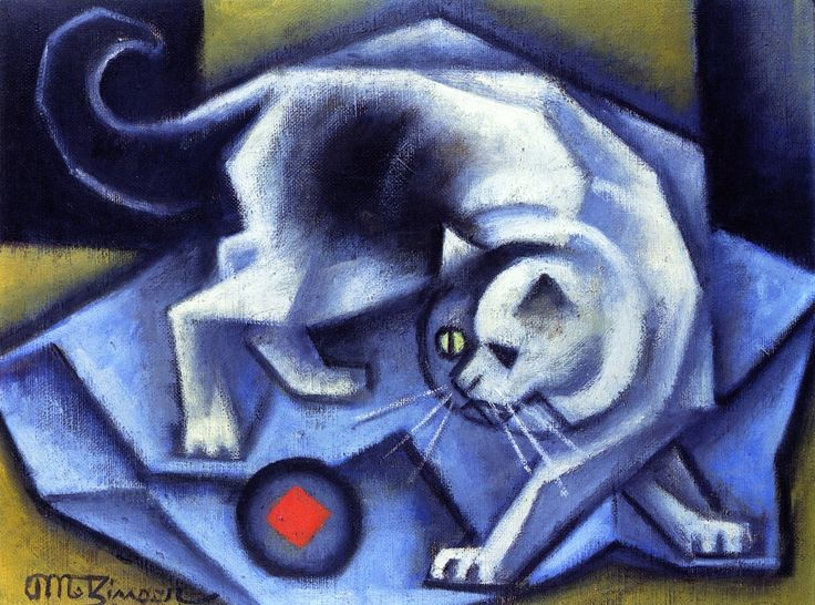Metzinger Cat Playing with a Ball