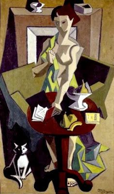 Metzinger The Green Dress, La robe vert, 1912-14