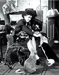 Clare Turlay Newberry with her Cats