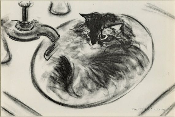 Clare Turlay Newberry, Cat in Sink 1944