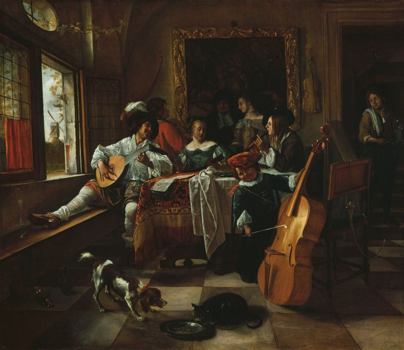 The Family Concert, 1666 Jan Steen