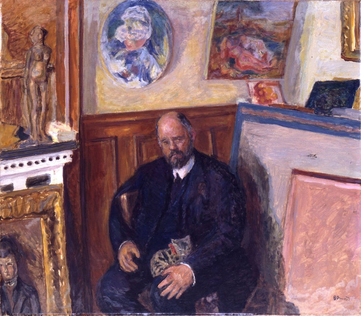 Ambroise Vollard and his cat, c.1924, P. Bonnard