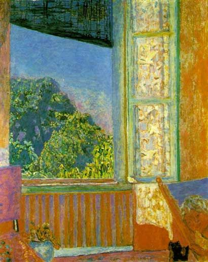 Black Cat Before a Window Bonnard, cat art