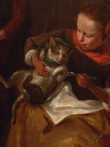Detail The Cats Medicine by Jan Steen