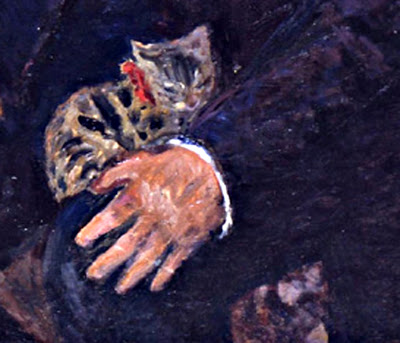 Detail Vollard with his Cat 1924, Bonnard