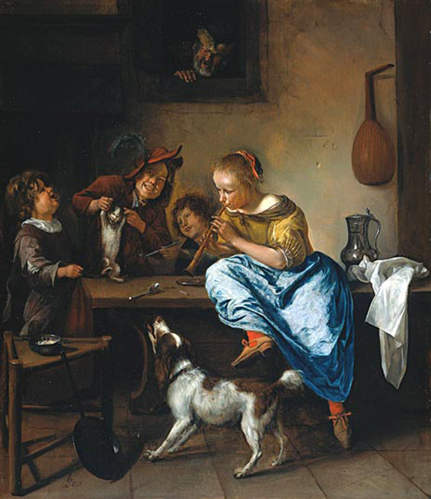 The Dancing Lesson 1665-68, Jan Steen