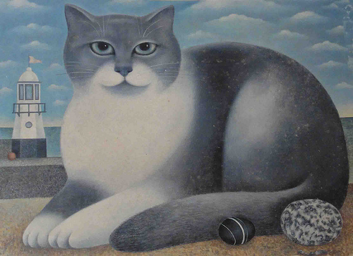 Grey and White Cat, Martin Leman