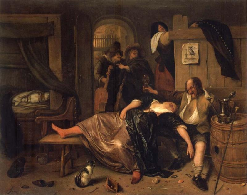 Jan Steen-the drunken couple 1660
