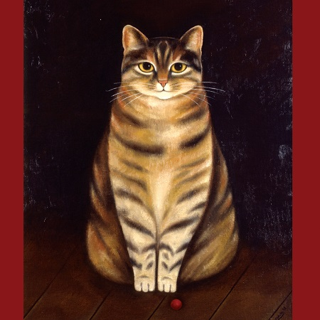 Martin-Leman-Loopy, cat art, cat paintings
