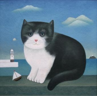 Martin-Leman-St-Ives-cat, cat art, cat paintings