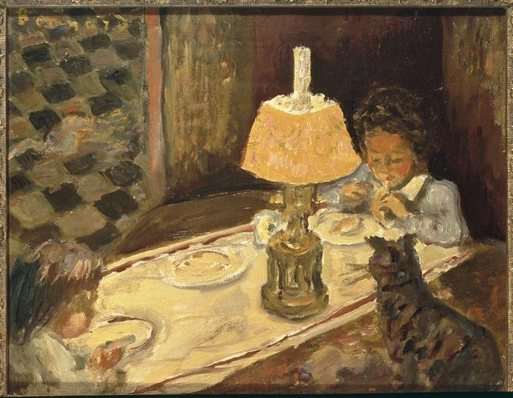 Pierre Bonnard (1867-1947) - Le Déjeuner des Enfants. Oil on Canvas. Circa 1897