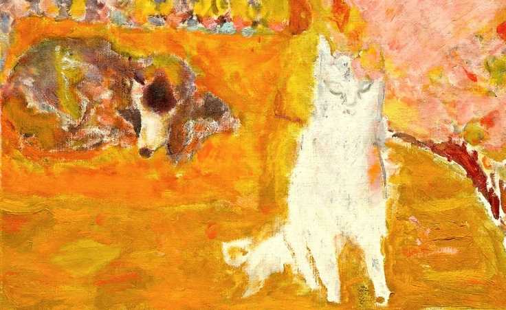 Pierre Bonnard (Francia, 1867-1947). Cat and Dog, detail from Grande Salle à manger sur le jardin, 1934-35