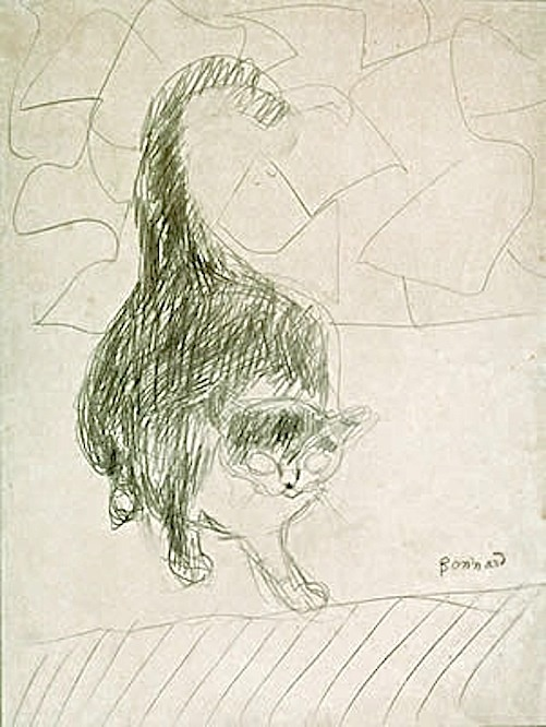 Sketch - Le Chat The Cat Pierre Bonnard