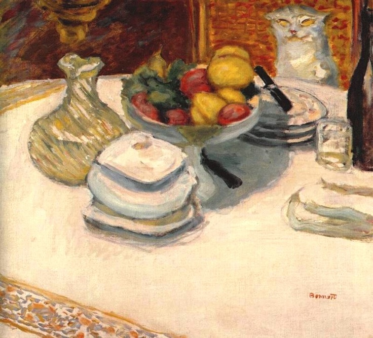 Pierre Bonnard (Francia, 1867-1947). Still-life with cat, c.1924