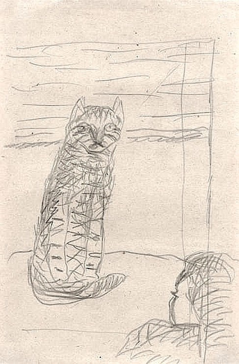 Sketch - Cat, P. Bonnard