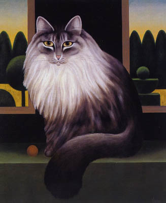 The Laskett, M. Leman, cat art, cat paintings