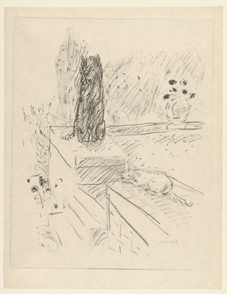 Sketch - Cat and Dog, Pierre Bonnard, cat art