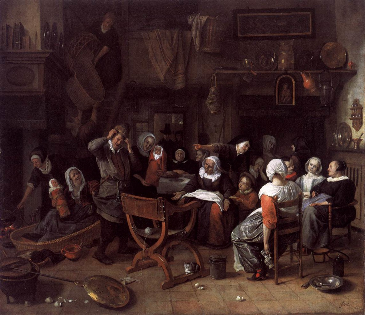 Twin Birth Celebration 1668 Jan Steen