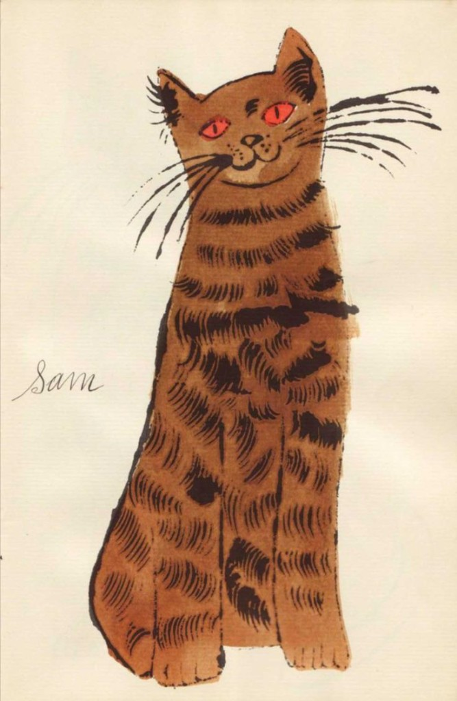 Andy Warhol, Brown Sam with Orange Eyes, 1954