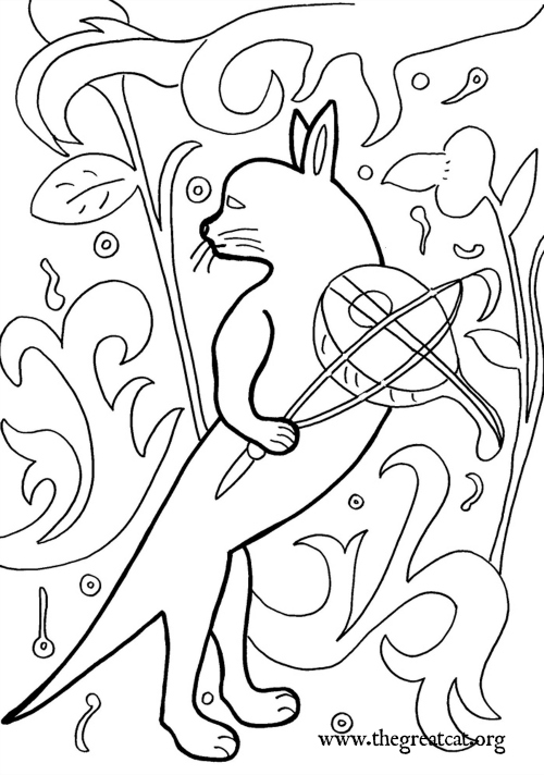 cat and fiddle 1470 medieval cats coloring book cat coloring book adult - Medieval Coloring Pages