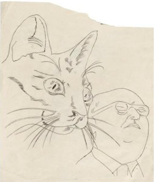 Andy Warhol, Sketch-The Cat Looked Like...