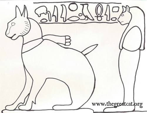 Thutmose's Ta Mit Ancient Egyptian Cats A Coloring Book