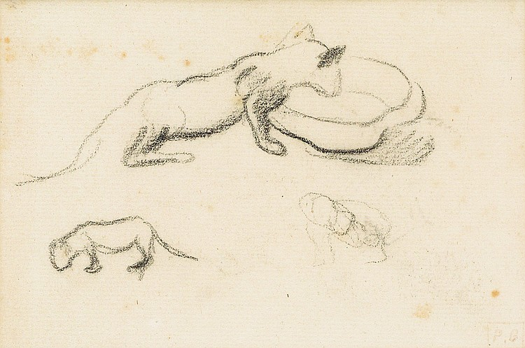 Etude des chats Study of Cats, Paul Gauguin
