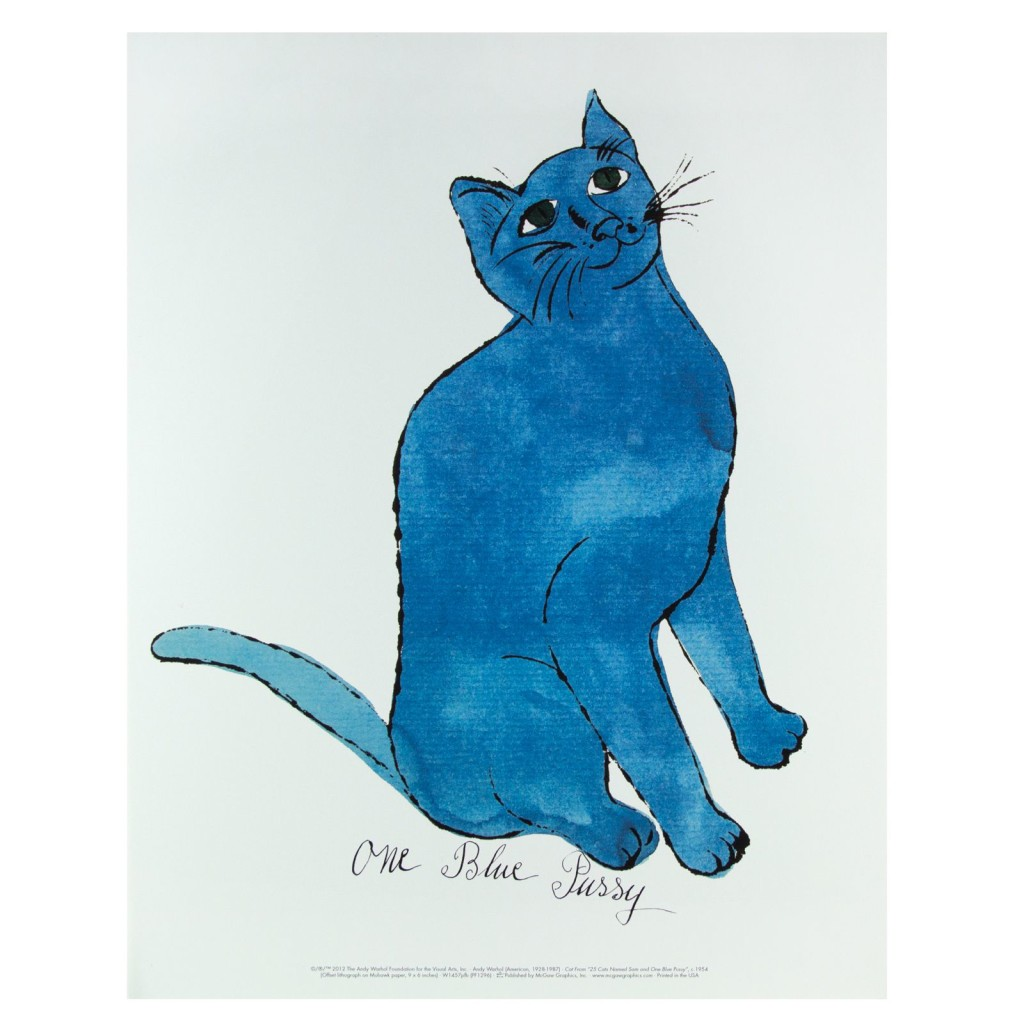Andy Warhol, One Blue Pussy, 1954