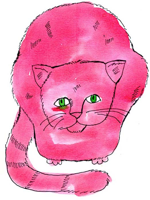 Andy Warhol, Pink Sam with Green Eyes