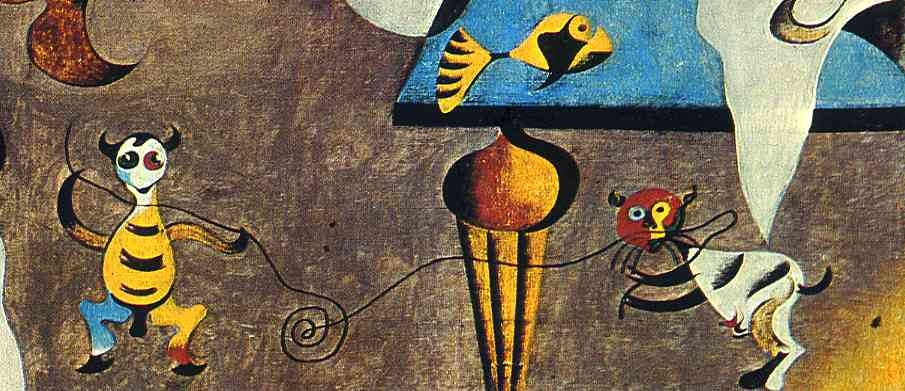 Detail, Harlequin's Carnival, 1925 Joan Miro, cat art