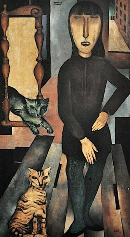 Jankel Adler Woman and Two Cats