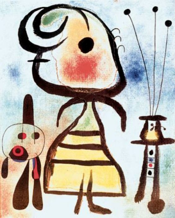 woman and cat, femme au chat joan miro, cat art